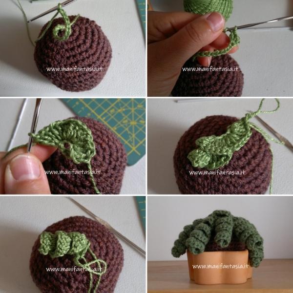 cactus riccio uncinetto amigurumi istruzioni