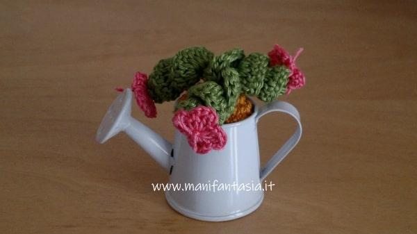 come fare le miniature delle piante grasse ad uncinetto