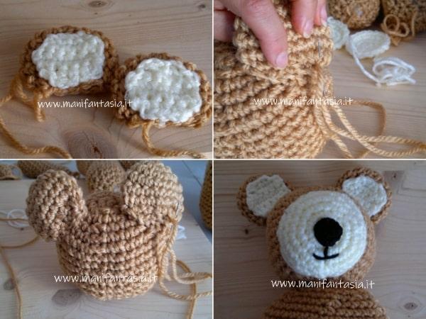 come realizzare un orsetto di lana ad uncinetto