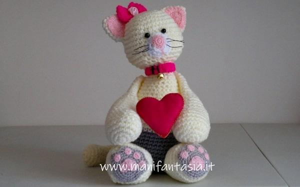 Amigurumi Cat Crochet Pattern Easy Video Tutorial (con immagini ... | 374x600