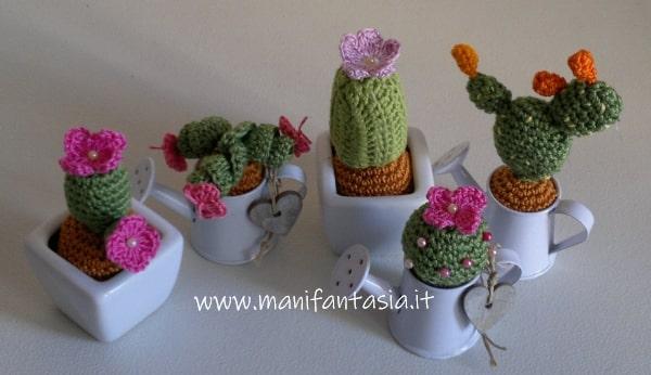 piante grasse uncinetto in miniatura schemi