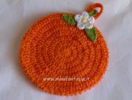 presina uncinetto arancia