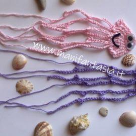 come fare una medusa ad uncinetto schema