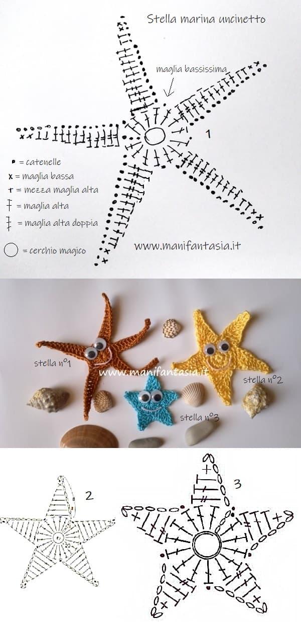 stelle marine uncinetto schemi