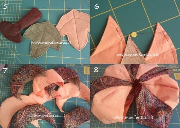 istruzioni per fare una zucca di stoffa