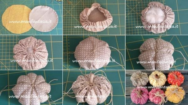 zucche di stoffa imbottite tutorial