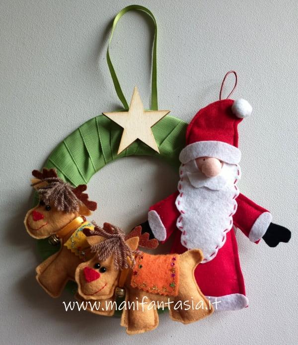 ghirlande natalizie fai da te babbo natale
