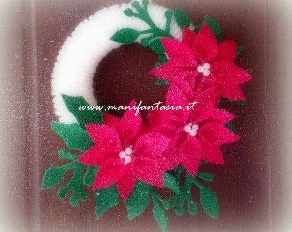 ghirlande natalizie fatte a mano di lana