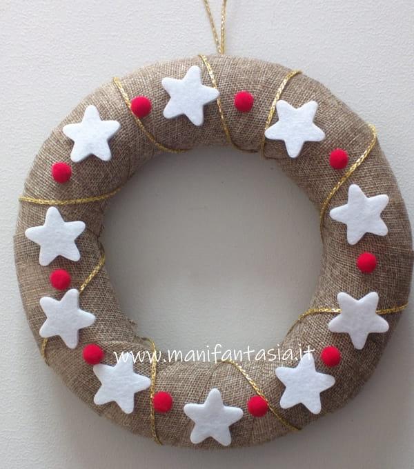 ghirlande natalizie fatte a mano stelle