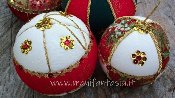 palline di polistirolo rivestite con la stoffa