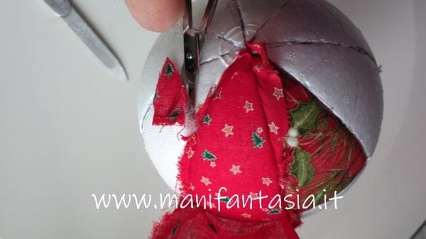 Palline di polistirolo rivestite con la stoffa manifantasia for Scatole rivestite in stoffa tutorial
