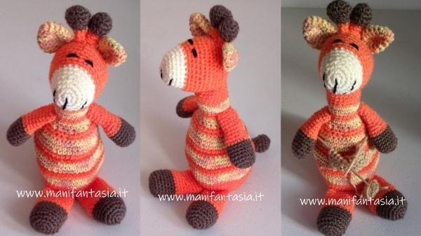 giraffa uncinetto amigurumi piccola