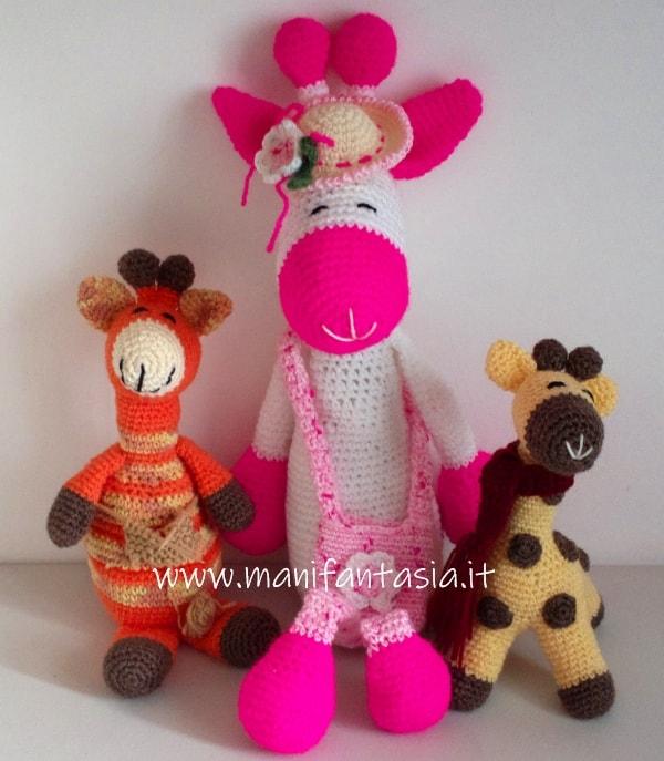 giraffe uncinetto amigurumi