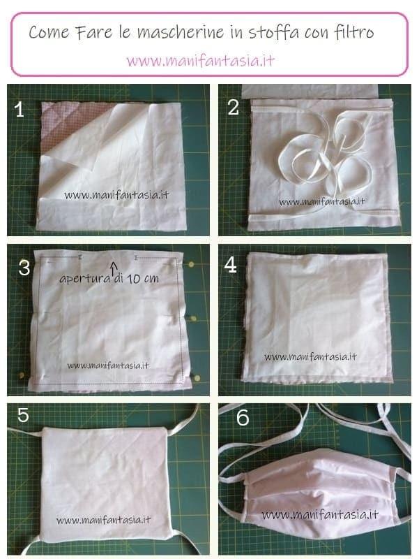 Mascherine in stoffa con tasca per il filtro