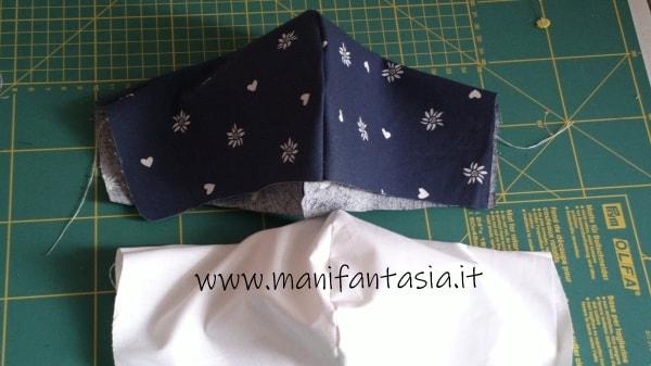 Mascherine in tessuto con tasca misure
