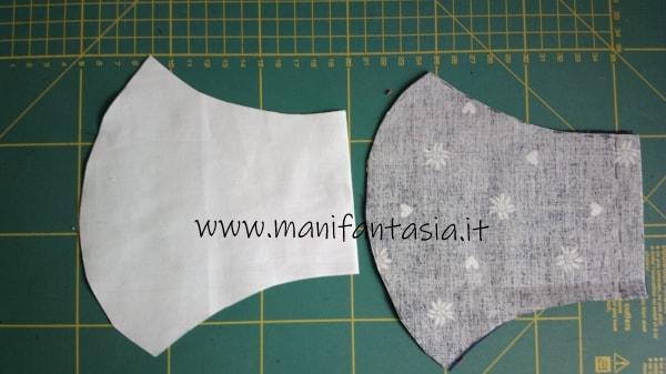 come fare una mascherina in tessuto con tasca