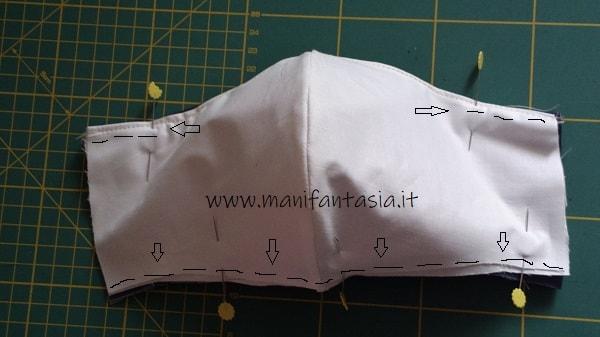 cucire mascherine in tessuto con tasca per il filtro