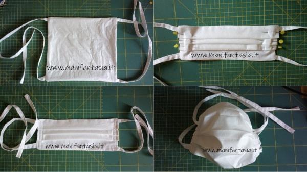 mascherine di stoffa con fettuccia tutorial