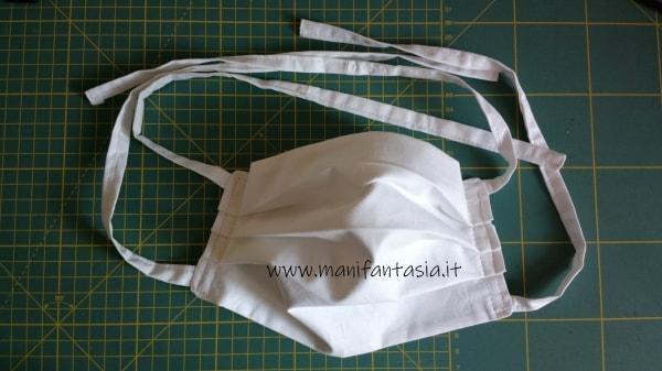 mascherine di stoffa senza elastico