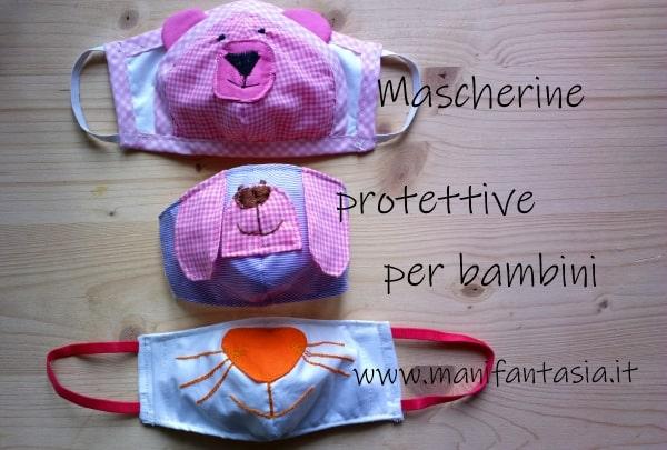 mascherine per bambini di stoffa