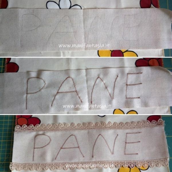 sacchetto per il pane di stoffa cucito creativo (1)