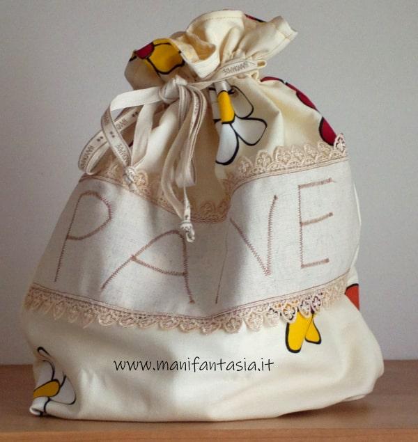 sacchetto per il pane di stoffa facile