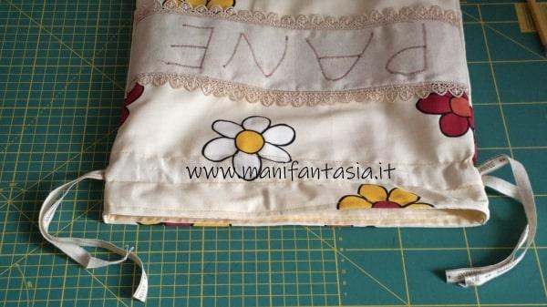 sacchetto per il pane di stoffa tutorial facile