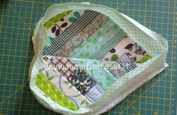 presina patchwork a forma di foglia istruzioni