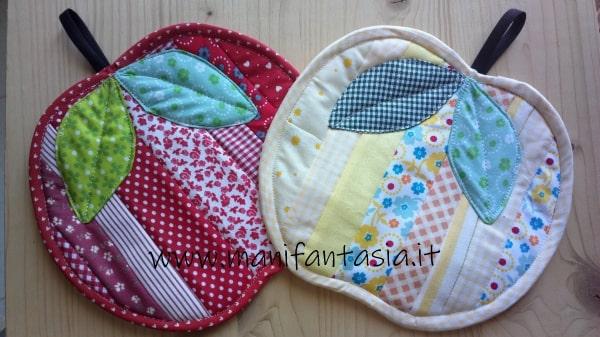 presine patchwork a forma di mela tutorial