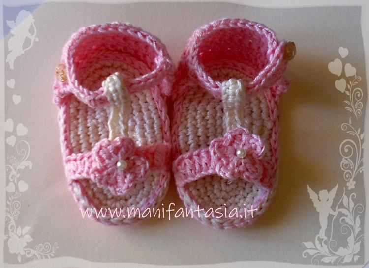 come fare i sandaletti uncinetto per bimba