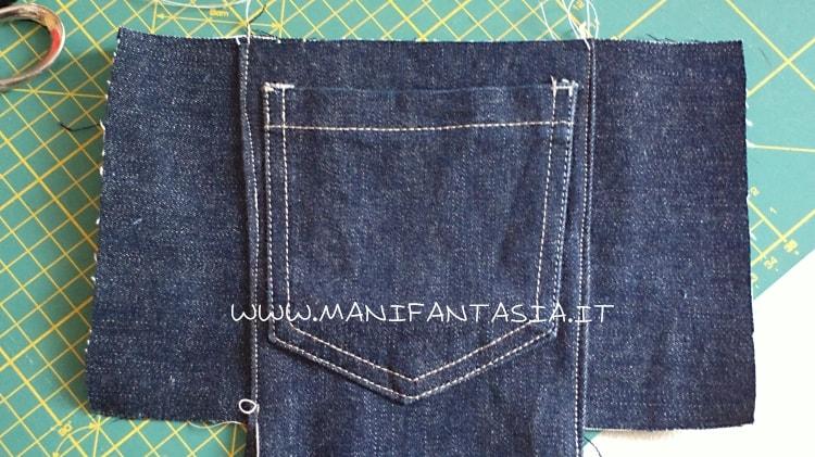 astuccio portapenne fai da te con jeans vecchi