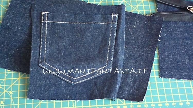 astuccio portapenne fai da te riciclo di jeans
