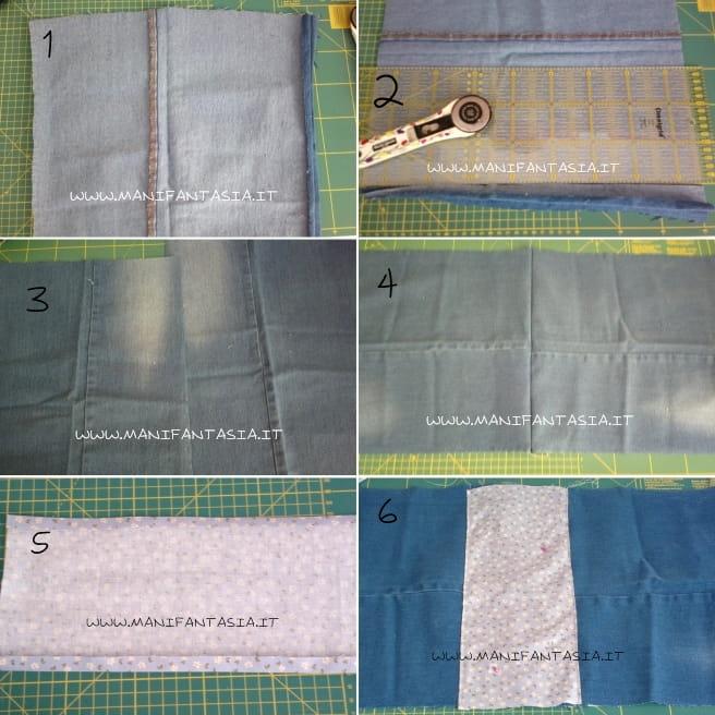 come trasformare vecchi jeans in sacca zaino