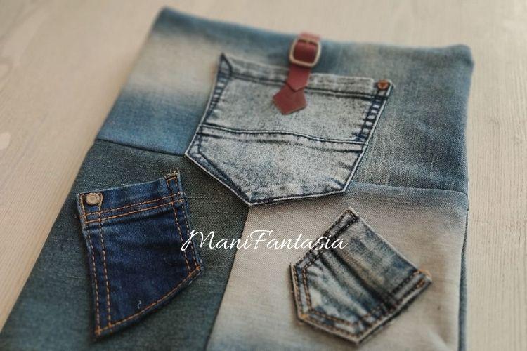 Idee creative per riciclare i vecchi jeans copri compiuter