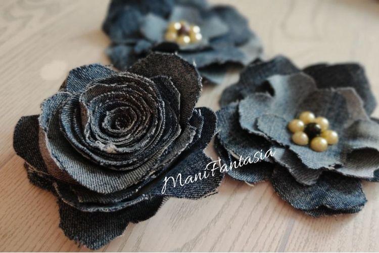 fiori di jeans idee riciclo
