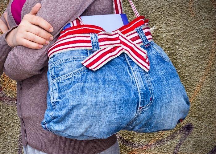 idee borse riciclo creativo jeans