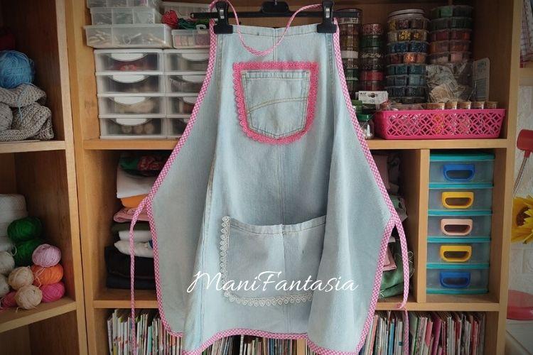 Idee creative per riciclare i vecchi jeans grembiule
