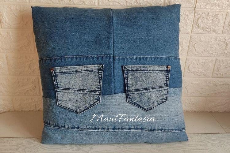 Idee creative per riciclare i vecchi jeans cuscini