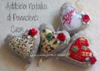 Cuori e sfere natalizie per l'albero di natale idee in feltro