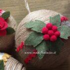 palline natalizie di spago fai da te materiale occorrente