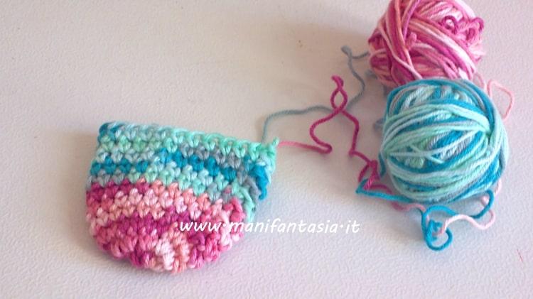calza della befana ad uncinetto schema punta
