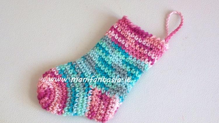 calza della befana ad uncinetto schema punto gambero