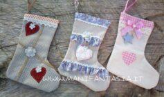 calze della befana con ritagli di stoffa fai da te