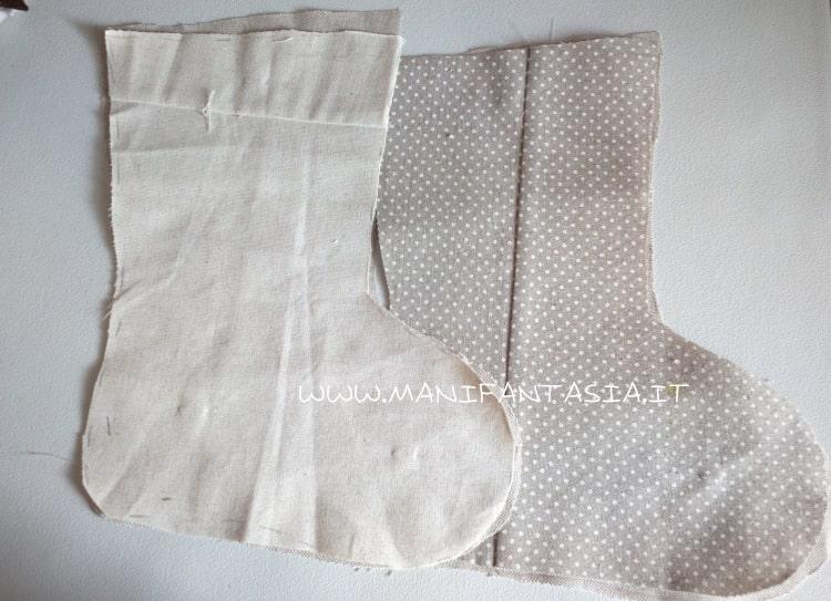 calze della befana di stoffa fai da te come fare