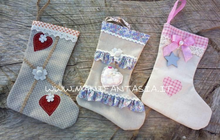 calze della befana di stoffa fai da te materiale occorrente