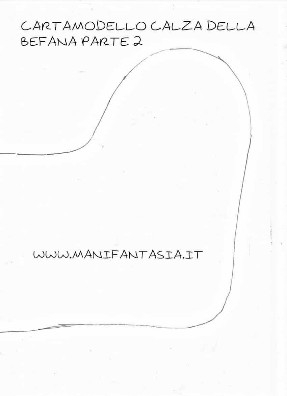 cartamodello calza della befana con la sciarpa parte1
