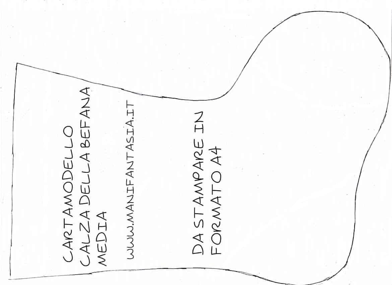 cartamodello calze della befana di stoffa fai da te