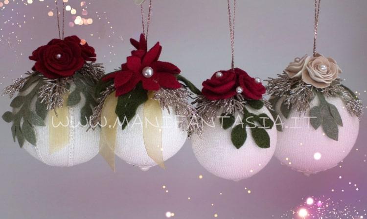 come fare palline natalizie con la maglina tubolare