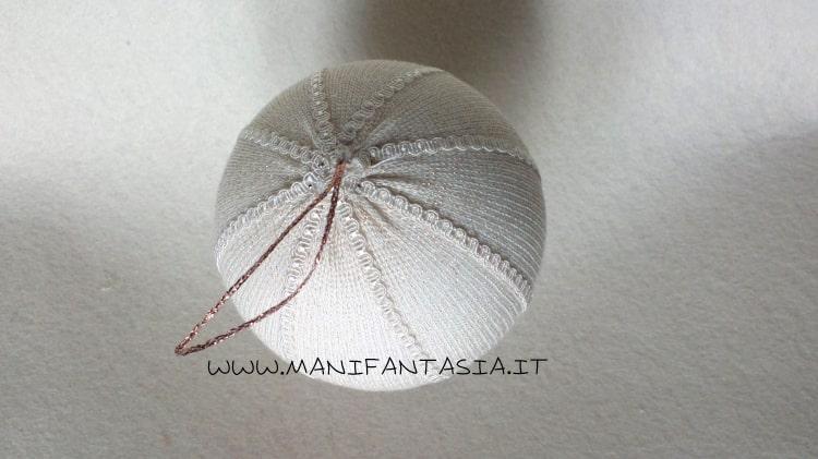 palline natalizie con il tubolare di maglina tutorial (1)