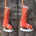 calza della befana a forma di pattino